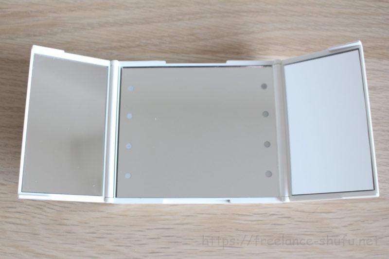 3面鏡コンパクトミラー 大きさ