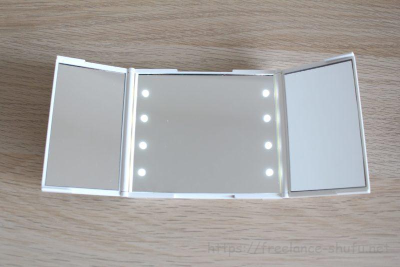 3面鏡コンパクトミラー 光量