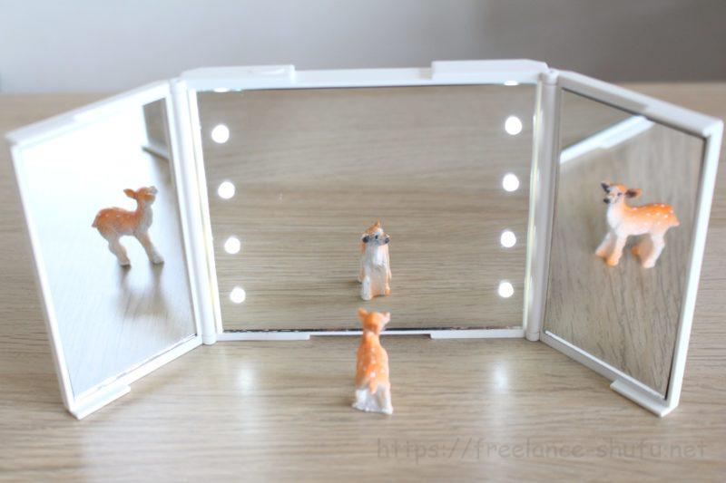 3面鏡コンパクトミラー 3倍鏡